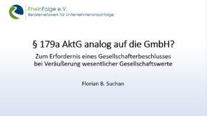 §179a AktG analog